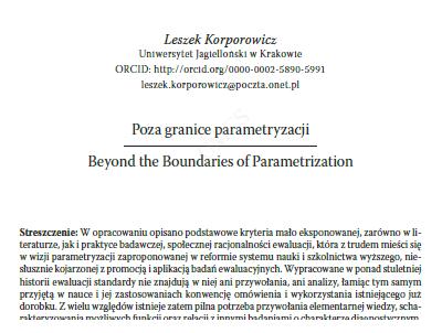 Poza granice parametryzacji